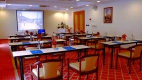 学院观众席光 蓝色主持会议室表木头 股票录像