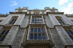 学院详细资料伦敦国王 免版税库存照片