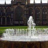 学院绿色和大教堂,布里斯托尔,英国 免版税图库摄影