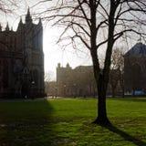 学院绿色和大教堂,布里斯托尔,英国 库存图片