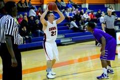 学院NCAA DIV III人的篮球 图库摄影
