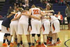 学院NCAA DIV III女子的篮球 库存图片