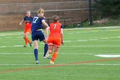 学院NCAA DIV III Women's足球 库存图片