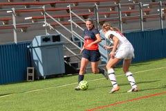 学院NCAA DIV III Women's足球 库存照片