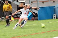 学院NCAA DIV III Women's足球 免版税图库摄影