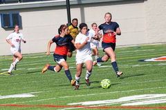 学院NCAA DIV III Women's足球 免版税库存图片