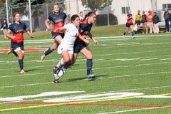 学院NCAA DIV III Women's足球 免版税库存照片