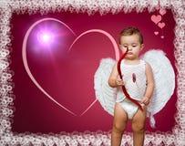 婴孩丘比特 免版税图库摄影