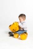 婴孩中国逗人喜爱 免版税图库摄影