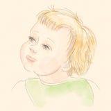 婴孩作梦 免版税库存图片