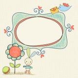 婴孩兔宝宝框架 库存照片