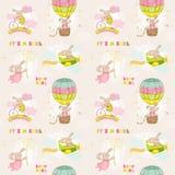 婴孩兔宝宝背景 免版税库存图片
