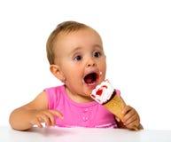 婴孩冰淇凌 免版税库存图片