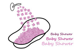 婴孩出生的男孩看板卡新的阵雨 免版税库存图片