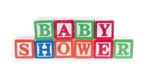 婴孩出生的男孩看板卡新的阵雨 库存图片