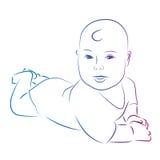 婴孩剪影 免版税库存图片