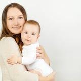 婴孩和妈咪,爱 免版税库存图片