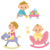 婴孩和操场设备 免版税图库摄影