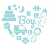 婴孩和新出生的集合男孩的 图库摄影
