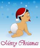 婴孩圣诞快乐 图库摄影
