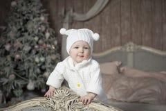 婴孩圣诞树 免版税库存图片