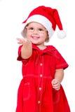 婴孩圣诞节圣诞老人 库存照片