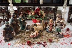 婴孩圣诞节耶稣明智人的场面三 图库摄影