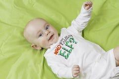 婴孩圣诞节画象 免版税库存图片