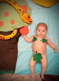 婴孩在天堂 免版税库存照片