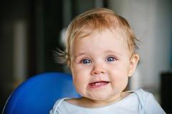 婴孩在家 免版税库存照片