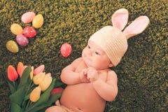 婴孩复活节兔子 图库摄影
