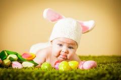 婴孩复活节兔子 免版税库存图片