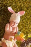 婴孩复活节兔子 免版税库存照片