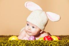 婴孩复活节兔子 免版税图库摄影