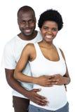 婴孩夫妇预计 免版税库存照片
