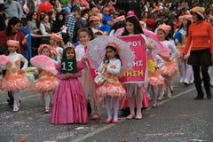 孩子。狂欢节在塞浦路斯。 图库摄影