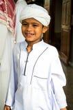 孩子为庆祝赖买丹月月的结尾微笑 库存图片