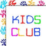 孩子俱乐部代表小孩协会和童年 库存图片