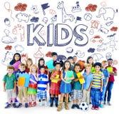 孩子儿童喜悦愉快的儿童概念 库存图片