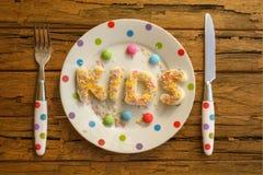 孩子党食物 库存图片