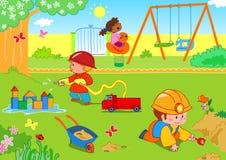 孩子公园 免版税库存图片