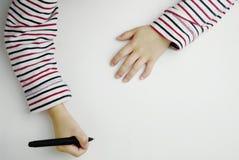 孩子写道 免版税库存照片