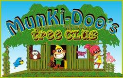 孩子动画片的密林字符 免版税库存照片