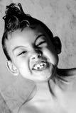 孩子和凉快的理发 免版税库存图片