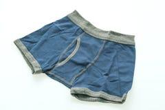 孩子和男孩的短的内衣 免版税库存照片
