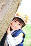 孩子和结构树 免版税库存照片