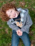 孩子和自然 免版税库存图片