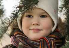 孩子和自然3 免版税库存图片