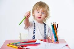 孩子和艺术教育 库存图片