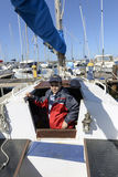孩子和风船。 免版税图库摄影